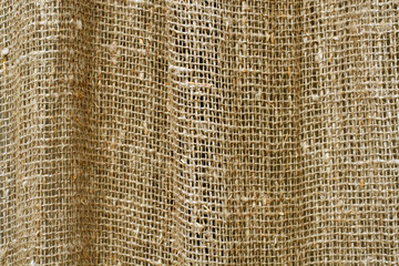Rough burlap curtain baclground