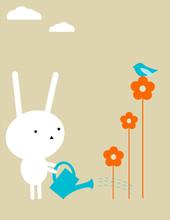 Кролик сад