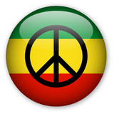 Rasta Flag button with Peace Symbol poster