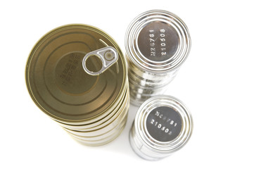 tinned goods closeup
