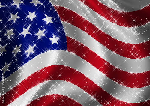 USA Flag star spangled