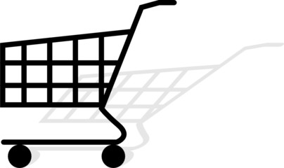 Simple shopping chart vector on white background