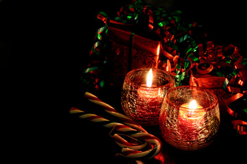 Christmas Candles, Gifts, and Candy Canes