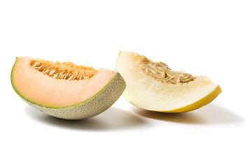 honeydew and cantaloupe melon slices