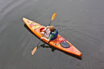 Teen in Kayak