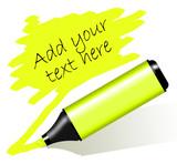 Fototapety Yellow highlighted paper - Evidenziatore