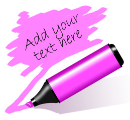 Pink highlighted paper - Evidenziatore