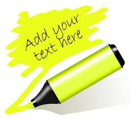 Yellow highlighted paper - Evidenziatore