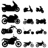 Fototapety motorcycle set vector