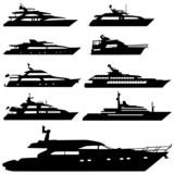 motor yacht vector poster