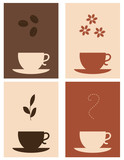 Fototapety Four coffee and tea designs
