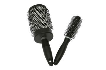 Hairbrushes isolated on white