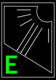 Scheme of solar power poster