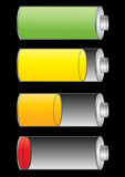 Level of battery charge poster