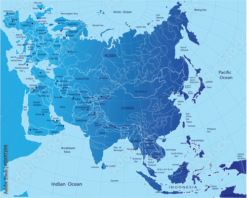 poster of Political map of Eurasia