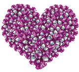 Heart from gentle petals of an iris poster