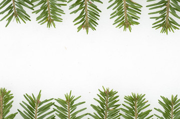 Fir frame on  white background