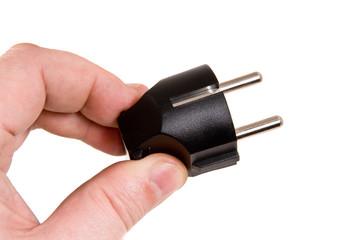 Men hold black electric