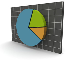 3D Data Graph over a grid