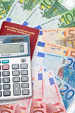 The calculator, the passport and the European money