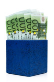 Dark blue box with euros