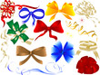 Set of bows and ribbons - vector illustration