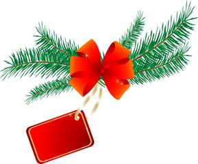 Christmas name tag with the bow