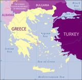 Greece-Turkey-Albania-Bulgaria-Macedonia Map poster