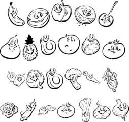 Happy Fruit and Vegetables