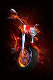 Fototapety Fiery motorcycle