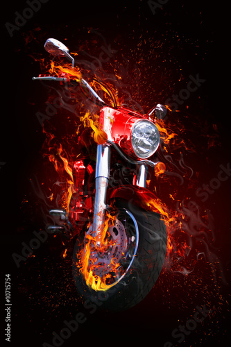Fiery motorcycle