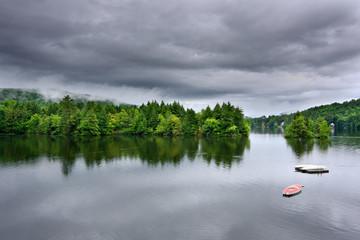 Stormy Lake Scene