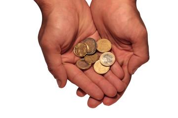 Euros in a hand