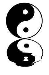 yin yang, reflet