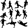 football players vector silhouettes