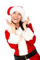christmas girl surprised