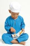 Islamic children  were learning poster