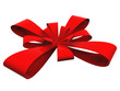 Red ribbon isolated for christmas, holiday or birthday designs