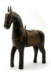 Old wooden toy horse poster