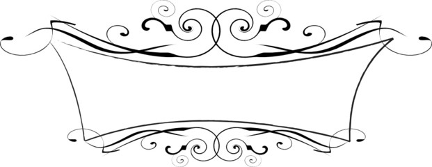 black and white vector ornate frame EPS 8