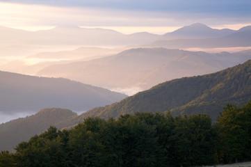 Mountain hazy daybreak