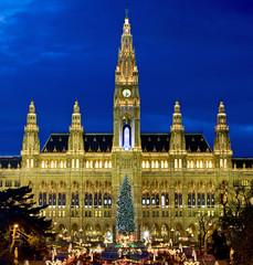 Weihnachtsmarkt in Wien beim Rathaus