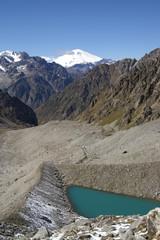 Caucasus. Elbrus region. Mountain lake