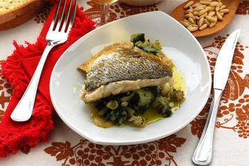 Filetti di branzino farciti  Secondi di pesce Cucina Dalmazia