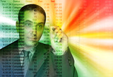 Colorful Business Accountant Man poster