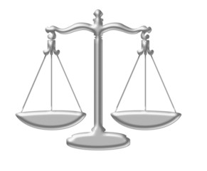 Zoalogical sign of balance also of legal authority