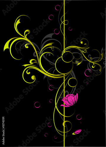 Leinwanddruck Bild Abstract floral background, element for design