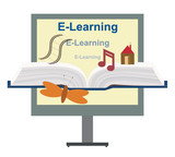 Vector E-Learning Concept poster