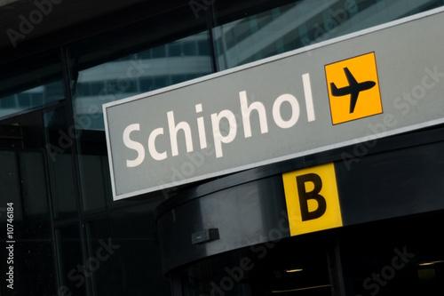 Foto op Aluminium Amsterdam Entrance to Schiphol airport, Amsterdam