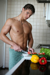 Sexy Man at the Kitchen